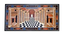 3'x2' Marble Dining Table Top Portrait Mosaic Inlay Art Living Room Decors B213