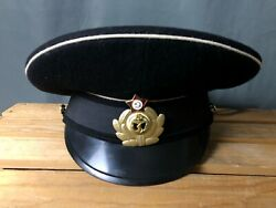 Authentic Navy Officer Hat Military Soviet Russian Uniform Cap Wool Ussr