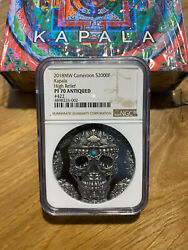 Kapala World Cultures 2 Oz Silver Coin 2018 Cameroon Grading Scale Ngc Pf 70