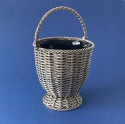 Victorian Solid Silver And039basket Weaveand039 Basket - 1862 - Padley Staniforth And Co