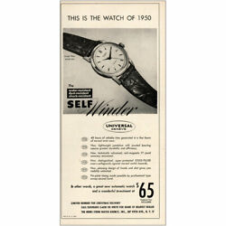 1949 Universal Geneve The Watch Of 1950 Vintage Print Ad