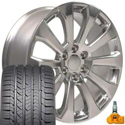 22x9 5922 Polished Rim Gy Tires Tpms Fit Chevrolet And Gmc 1500 High Country Set