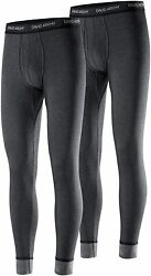 David Archy Menand039s Double Layer Fleece Brushed Thermal Bottoms Ultimate Winter Wa