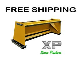 8and039 Xp24 Pullback Snow Pusher Skid Steer Bobcat Case Caterpillar-free Shipping