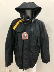 Parajumpers Nwt Mens Down Right Hand Base Jacket In Black Size Xxl