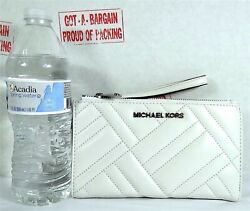 Michael Kors Peyton Quilted Leather Double Zip Phone Case Wristlet Wallet $41.98