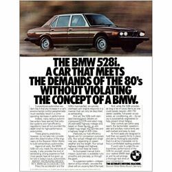 1980 Bmw 528i Meets The Demands Of The 80s Without Violating Vintage Print Ad