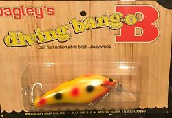 New Sealed Bagley Db04 Cohoe All Brass Super Rare Bait Wow 10 Rated Color