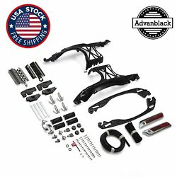 One Touch Latch Saddlebag Lids Hardware Cover W/ Lock Fits 14+ Harley Touing