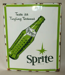 Sprite Soda Bottle Vintage Style Porcelain Signs Country Store Gas Station