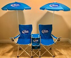 Unique Bud Light Two Chair With Umbrellas Speakers And Cooler Mobile Beach