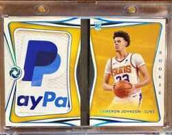 2019-20 Panini Opulence Cameron Johnson Rookie Paypal Patch Booklet 2/5 Rare