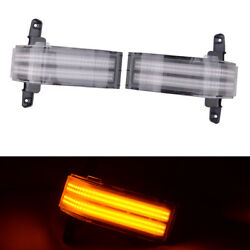 Dual-row Amber Led Strip Mirror Turning Marker Light Fit For Chevrolet Silverado