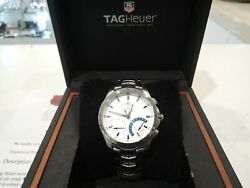 Tag Heuer Link Calibre S Men's Cjf7111 Chronograph Silver Dial Watch 42mm