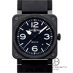 Bell And Ross Br03-92 Automatic Winding Metal Stainless Steel Mens Watch Black