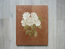 Wooden Picture Inlay Roses Wood Mosaic Marquetry Flowers Wall Decor
