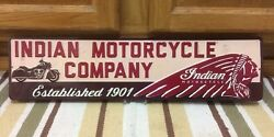 Indian Motorcycle Embossed Metal Chief Scout Chopper Harley Davidson Man Cave 1