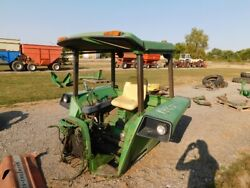 John Deere 4230 Tractor Four Post Canopy And Platform W/ Seat Tag 1985