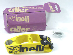 Cinelli Alter Stem 120mm 1 Black Yellow Once Vintage Bicycle Lance New Nos