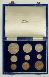 South Africa 1948 9 Coin Proof Set In Original Box 1,120 Minted Km Ps20