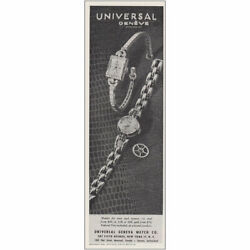 1946 Universal Geneve Watch Models For Men And Women Vintage Print Ad