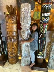Totem Pole Wooden 200 Metres 78 Inches 6.56 Feet New Collection Maya-inka