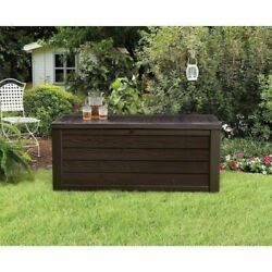 Extra Large Deck Box Keter 150-gallon Outdoor Storage Container Garden Bench New
