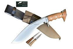 10 Blade Iraqi Panawal Angkhola Working Kukri Knives Synthetic Leather Case