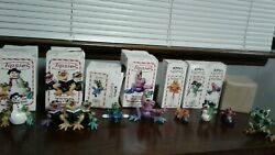 Tipsies Kitty's Critters 8 Piece Lot Frogs Snowman Rare Retiredoriginal Boxes