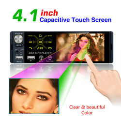 4.1in Car Stereo Audio Radio Mp3 Player In-dash Fm Aux Input Receiver Sd/usb/bt