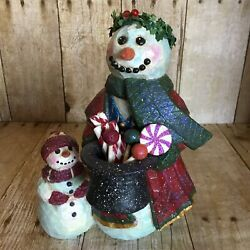 Pam Schifferl Snowman And Snow Child Midwest Of Cannon Falls Christmas Figurine