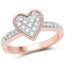 Christmas 1.05ct Natural Round Diamond 14k Solid Rose Gold Ring Size 7