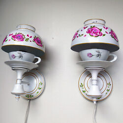 Pair Of Vintage Wall Sconces Plug In Light Fixtures