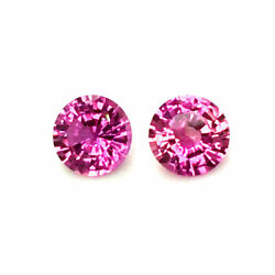Natural Heated Pink Sapphire Matching Pair Purple-pink Color 1.99 Carats / Gia