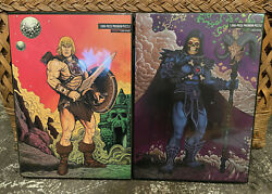 Mondo Masters Of The Universe He-man Skeletor 1000 Piece Jigsaw Puzzle Set Lot