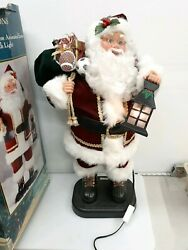Holiday Creations Mr Santa Claus Animated Light Up 1998 28andrdquo Works Great