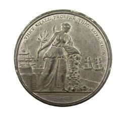 1801 Preliminaries For Treaty Of Amiens 38mm White Metal Medal - By Kettle