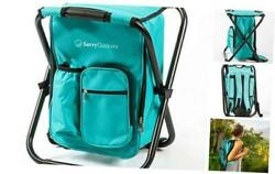 Ultralight Backpack Cooler Chair Compact Lightweight and Portable Folding Sto $67.96