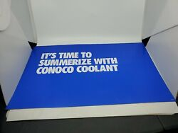 Conoco Plastic Gas Pump Topper Insert Sign Double Sided 24x15