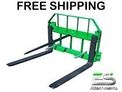 Free Shipping - Es John Deere Combo 49 Spear 36 Pallet Forks Jd Quick Attach