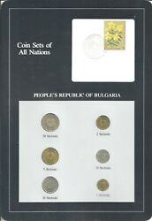 Coins Of All Nations - Bulgaria - 6 Coin Set - 1974 Cns-1537
