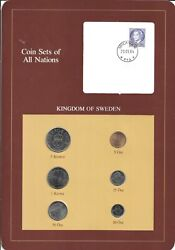 Coins Of All Nations -sweden - 6 Coin Set - 1981-1983 -  Coan 53