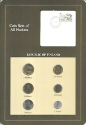 Coins Of All Nations - Finland - 6 Coin Set - 1982-1983 - Coan 58