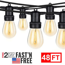 48ft Outdoor String With Shatterproof Waterproof Led For Party Commercial Lights