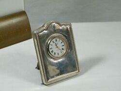 Silver Plated Small Desk Clock By Carr Of Sheffield.