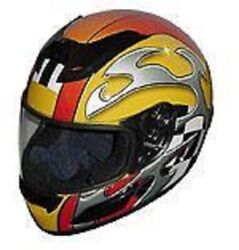 Rz-2 Race Full Face Motorcycle Helmets - Yellow Blade-new