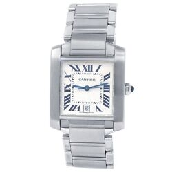 Tank Francaise Stainless Steel Automatic Silver Menand039s Watch W51002q3