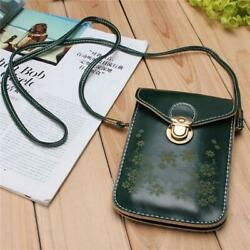 Strap Phone Bag Mini Buckle Flower Flap Designer Small Crossbody Women Purse $15.99