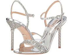 NIB Badgley Mischka Olympia Silver Evening Sandals Shoes Size: 10M MSRP $198 $89.99