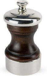 Peugeot Palace 4 Inch Silver Plated Pepper Mill, Antique Brown